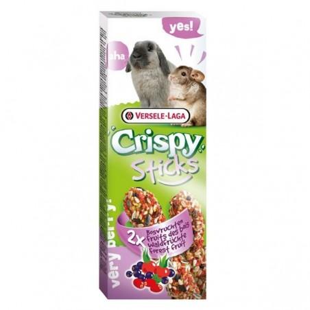 Crispy Sticks Lapins-Chinchillas Fruits des bois - 2 x 55g