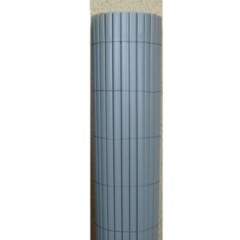 Canisse PVC Double Face gris perle, Variante: Ht.1.8 x Lg.3 m