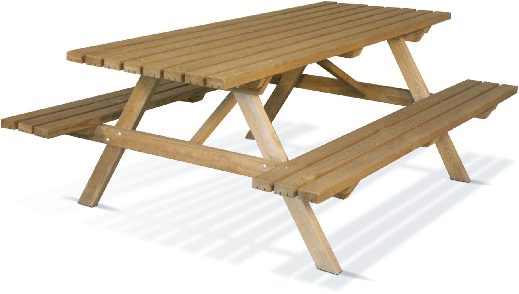 Table de pic-nic en bois Medium 200 cm