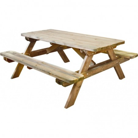 Table de pic-nic en bois Robuste