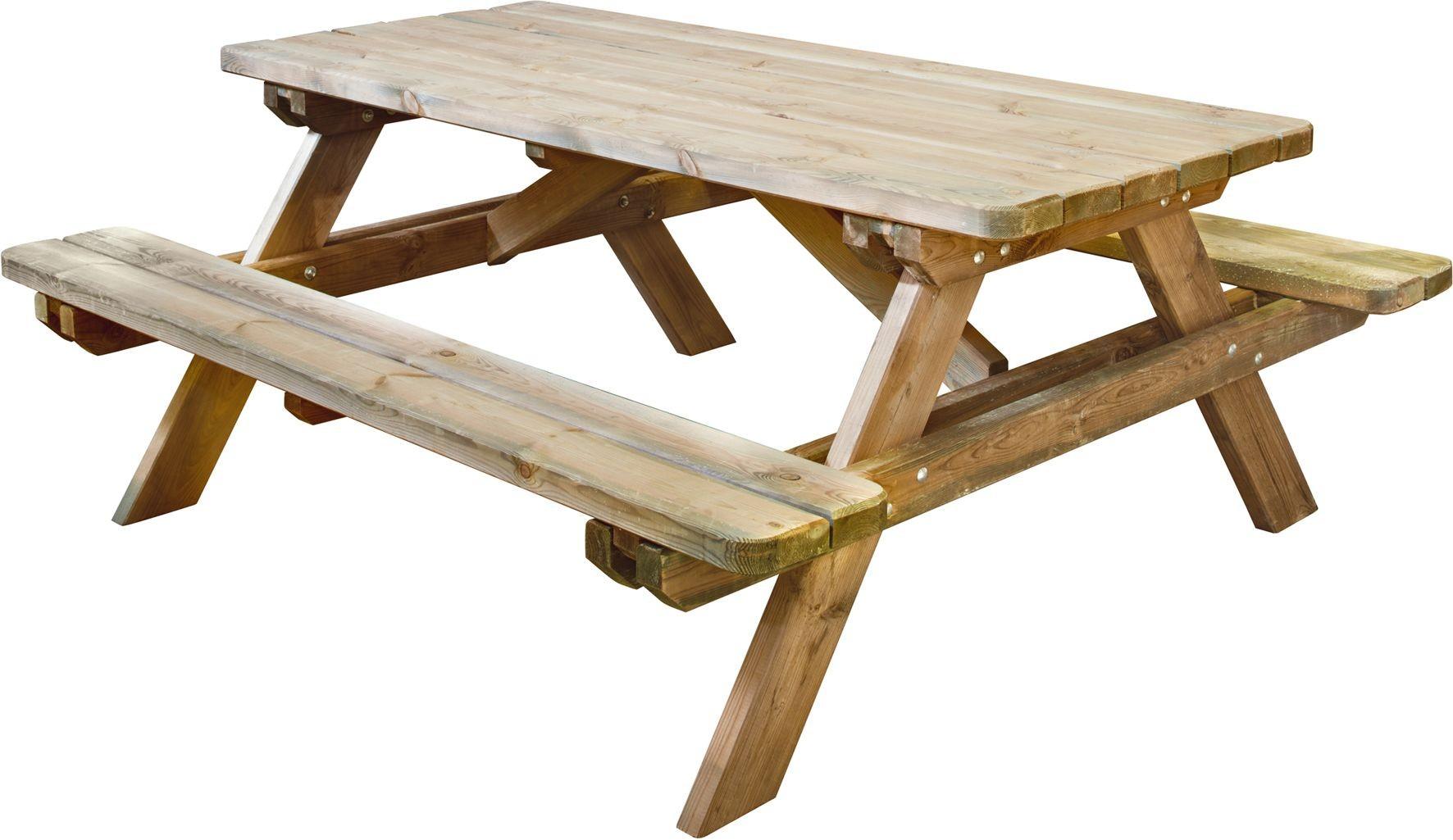 Table de pic-nic en bois Robuste