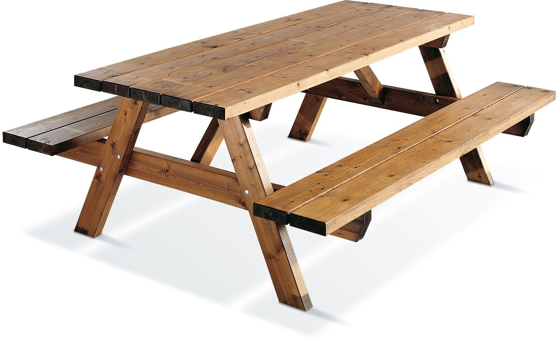 Table de pic-nic en bois Garden 200