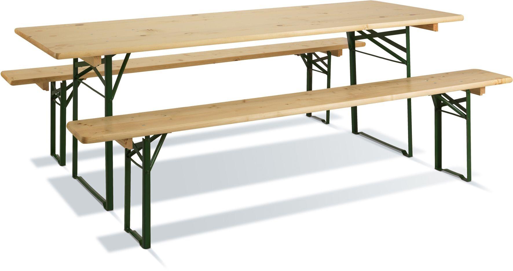 Table de pic-nic en bois Brasseurs 220 cm