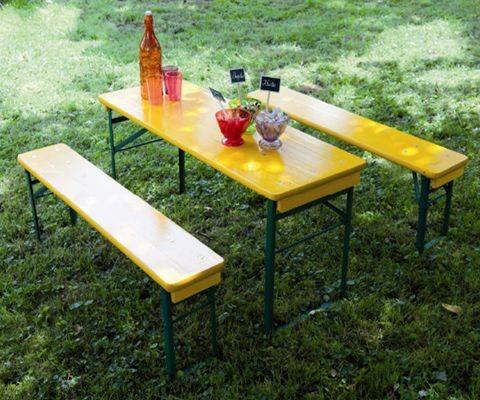 Table de pic-nic pour enfant Mini Brasseur, Couleur: Jaune