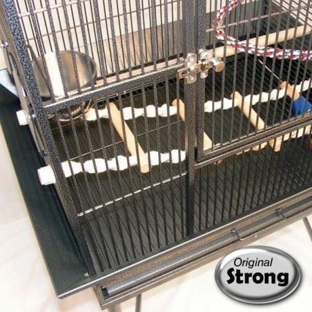 Bac de cage amovible pour un nettoyage facile