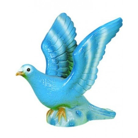 Pigeon bleu volant