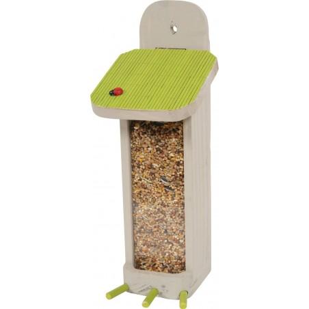 Distributeur de graines oiseaux Vert