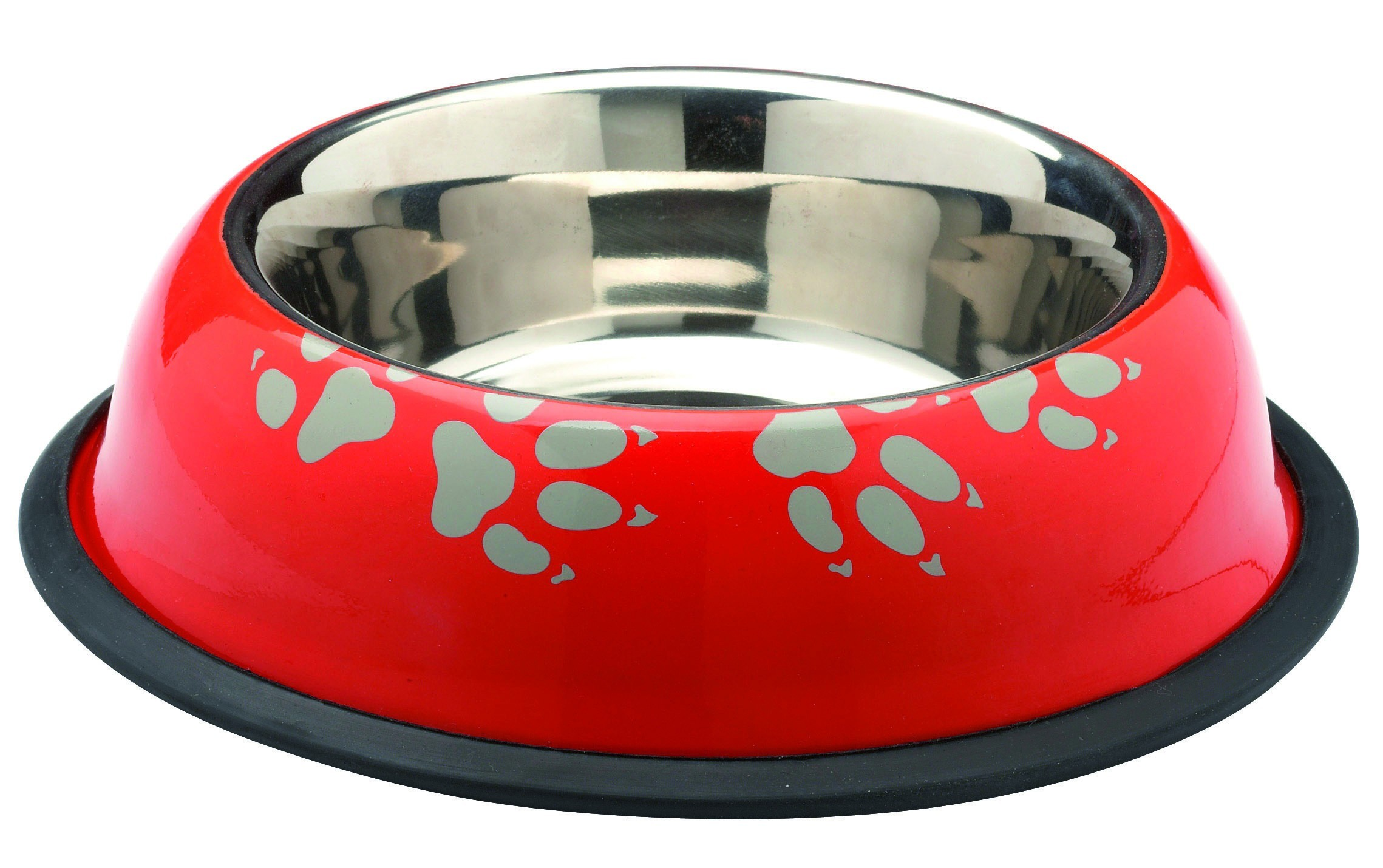 Gamelle pour chien inox Ribambelle, Couleur: Orange, Taille: 20