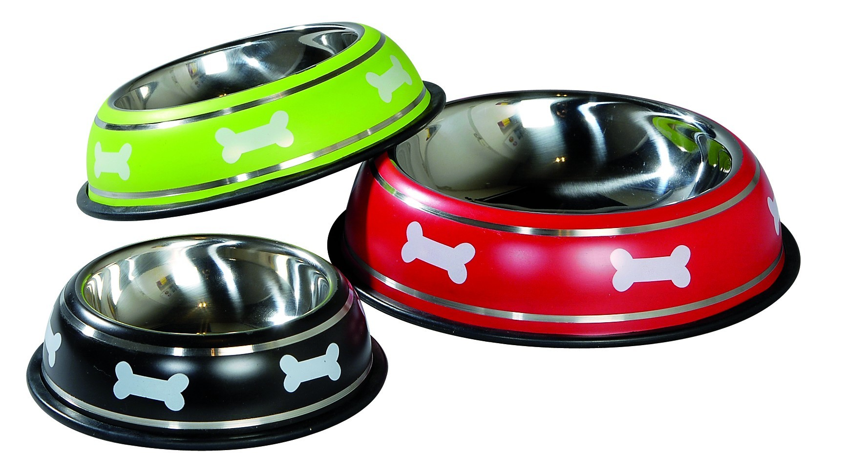 Gamelle pour chien inox Manege, Couleur: Rouge, Taille: 30
