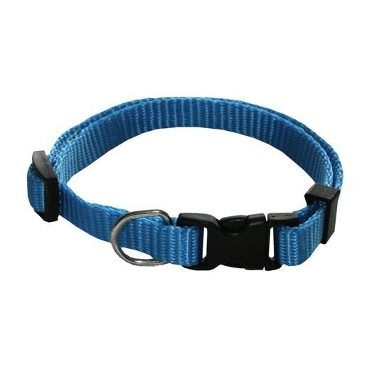 Collier pour chien nylon uni réglable Rex, Couleur: Bleu, Taille: 1.5 x 45 cm