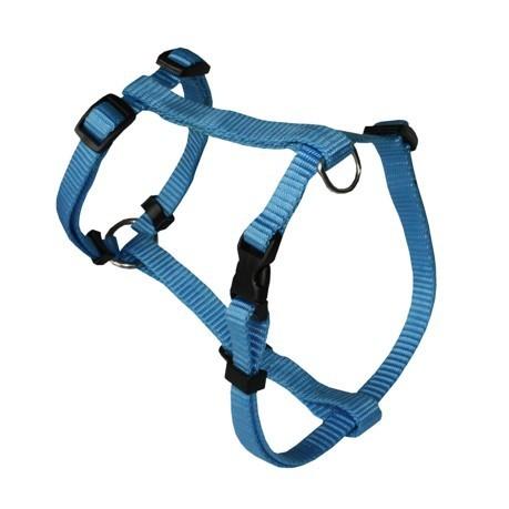 Harnais pour chien nylon uni réglable Rex, Couleur: Bleu, Taille: 1.5 x 35-50 cm