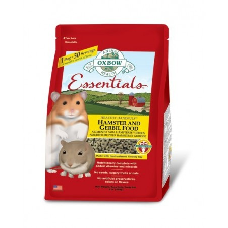 Hamster and Gerbil granulés Oxbow 900g