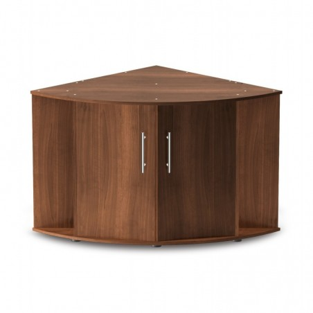 Aquarium d'angle Trigon 350 brun + meuble
