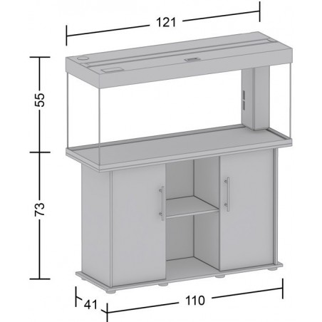 Aquarium Juwel Rio 240 hêtre + meuble