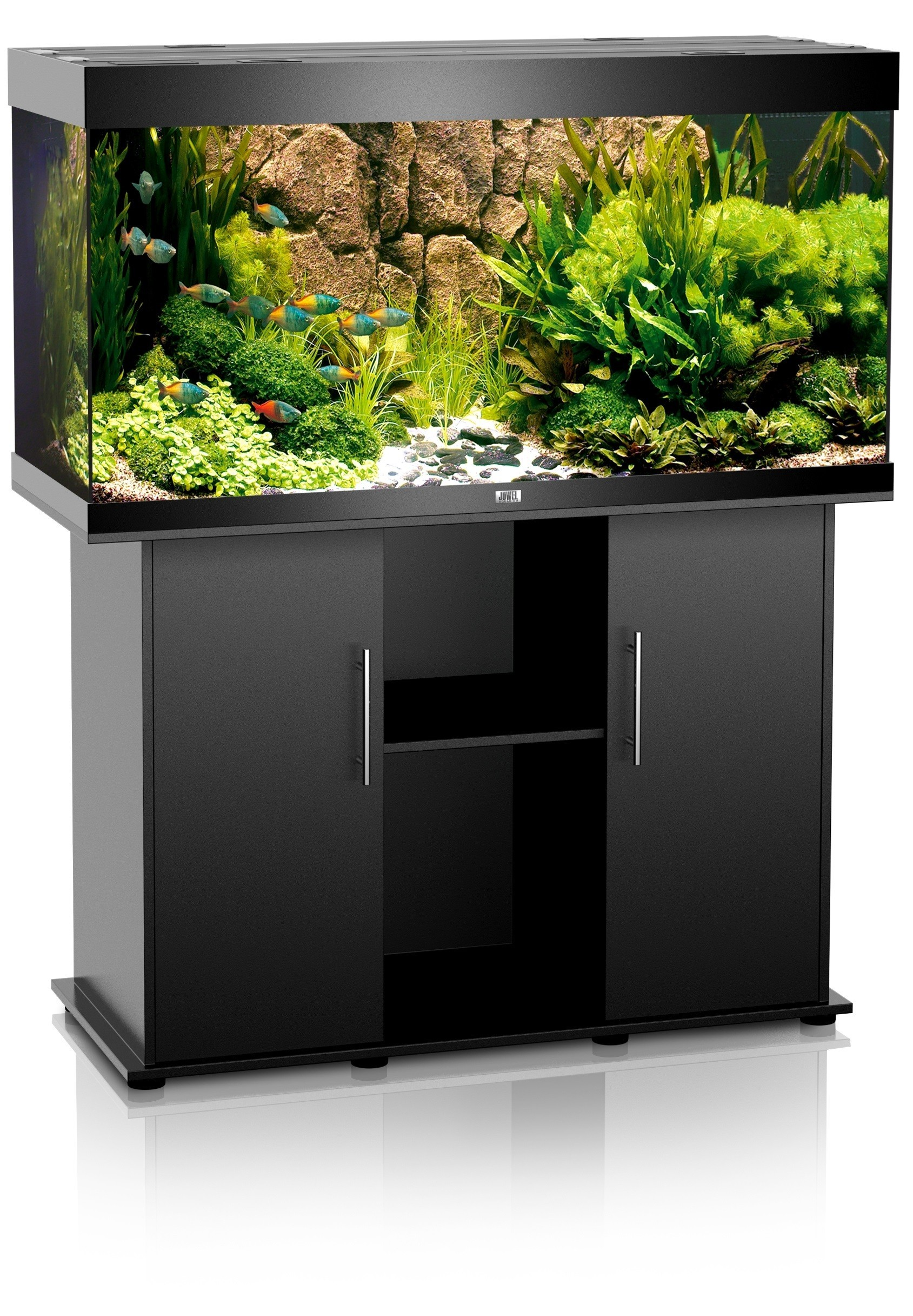 Aquarium Juwel Rio 300 noir + meuble