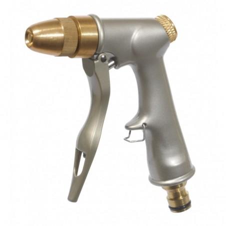 Pistolet d'arrosage à nez réglable métal/laiton