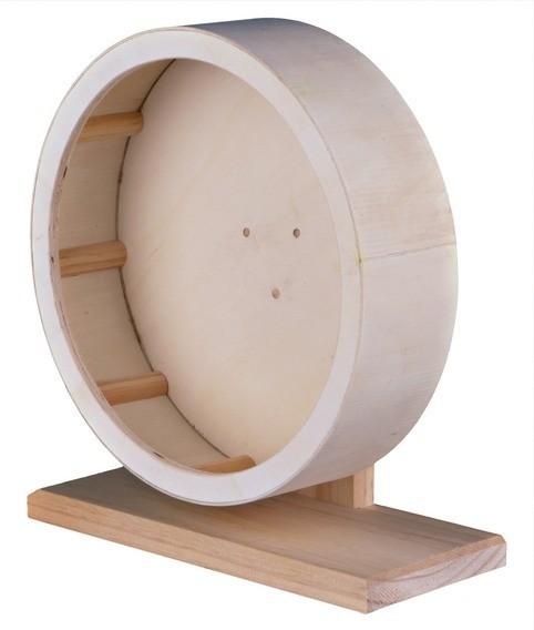 Roue d'exercice en bois pour rongeurs, Dimensions: Diam. 28 cm