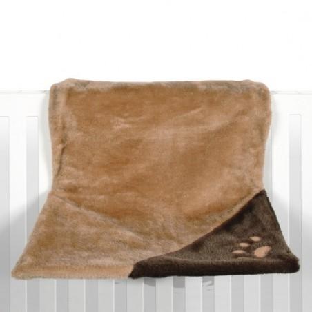 Lit de radiateur peluche luxe brun clair/brun