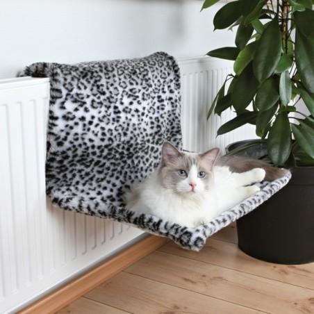 Lit de radiateur peluche léopard des neiges