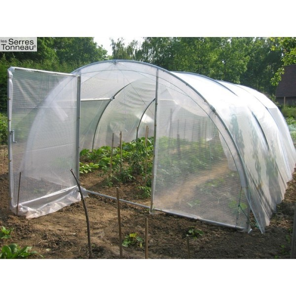 Serre abri légumes Tonneau, Variante: 4x12 m - 48 m