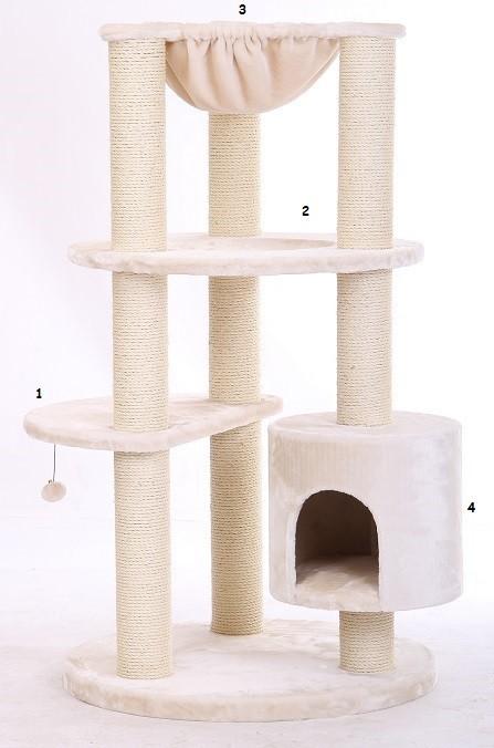 Arbre à chat Maine Coon XL Colosseum Beige