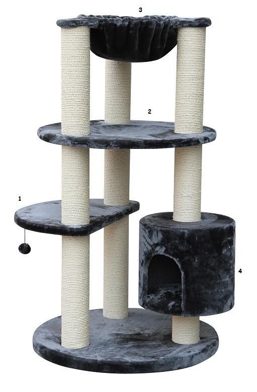 Arbre à chat Maine Coon XL Colosseum Gris