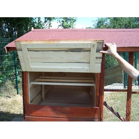 Poulailler géant 6-10 poules toit bitumé