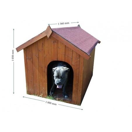 Niche à chien toit bitumé Europe