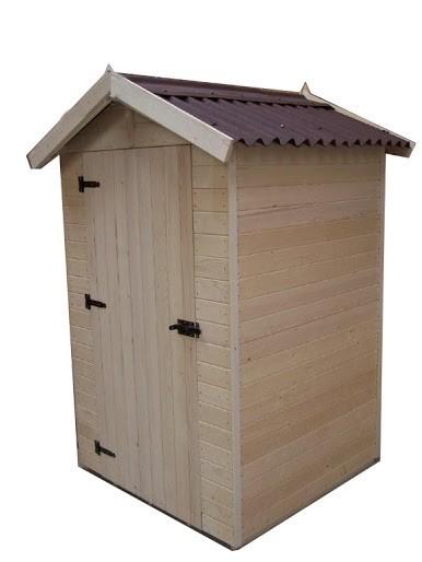 Abri bois panneau 16mm - 2.03 m², Variante: Avec montage