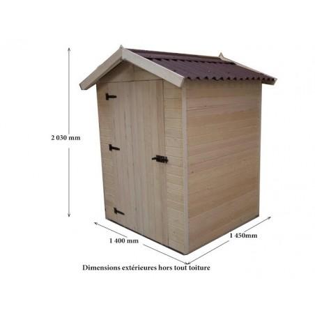 Abri bois panneau 16mm - 2.03 m²