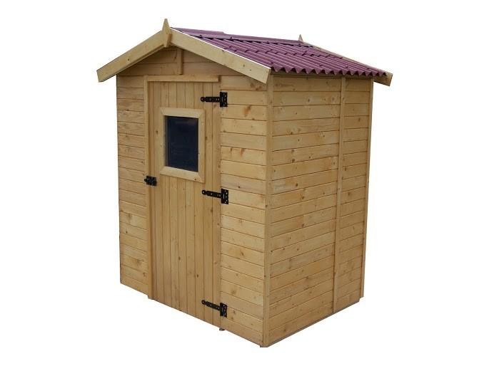 Abri bois panneau 16mm - 2.61 m², Variante: Avec montage