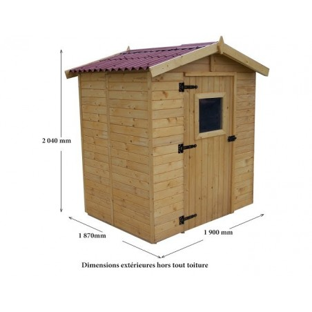 Abri bois panneau 16mm - 3.55 m²