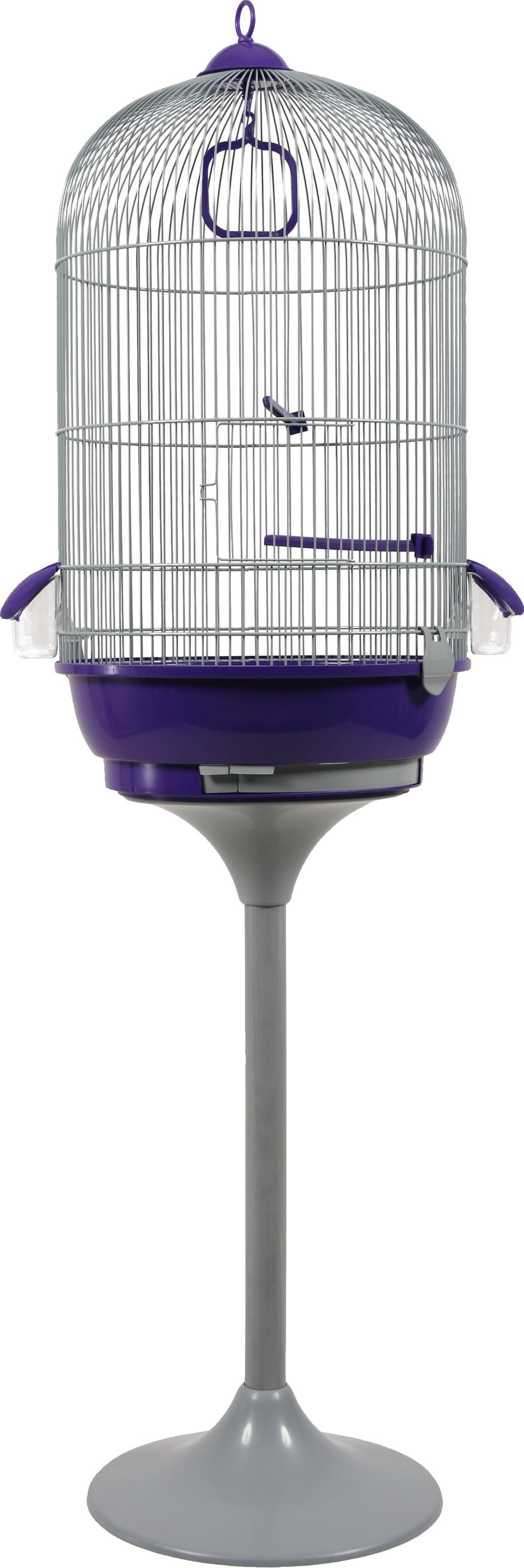 Cage oiseaux Amarante + pied, Couleur: violette