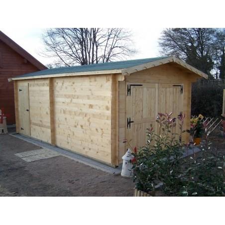 Garage Madriers massifs 42mm 24 m²