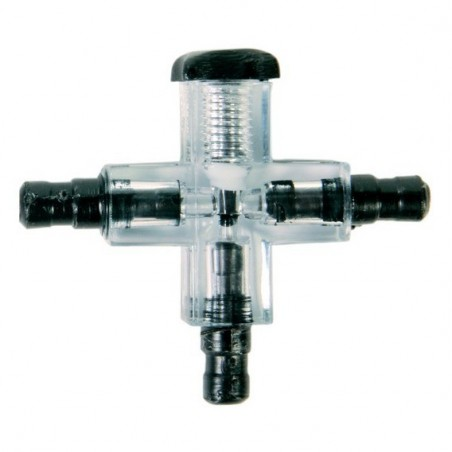 Connecteur croisé avec valve transparent ø 5mm
