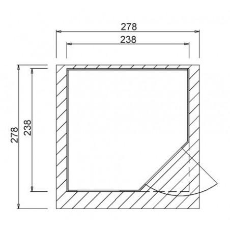 Schéma Abri en madriers FIDES 28mm - 7.70 m²