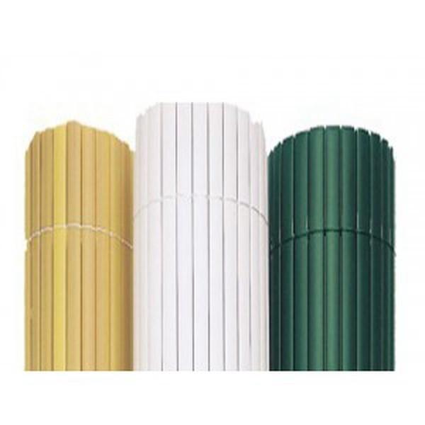Canisse PVC Double Face Blanche, Variante: Ht.1.8 x Lg.3 m