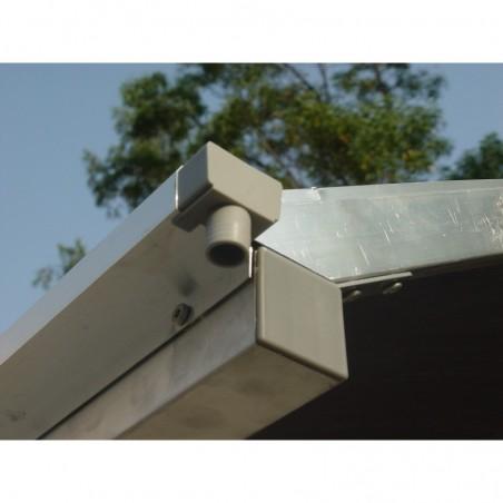 Gouttières : Carport aluminium toit 1/2 rond gris anthracite
