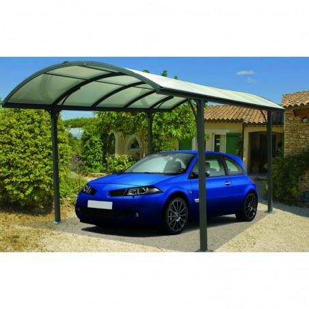 Carport aluminium toit 1/2 rond gris anthracite