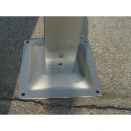 Poteau : Carport aluminium toit 1/2 rond gris anthracite