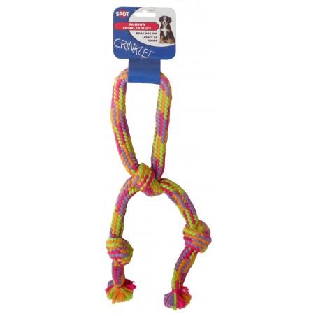 Jouet chien corde crinkler