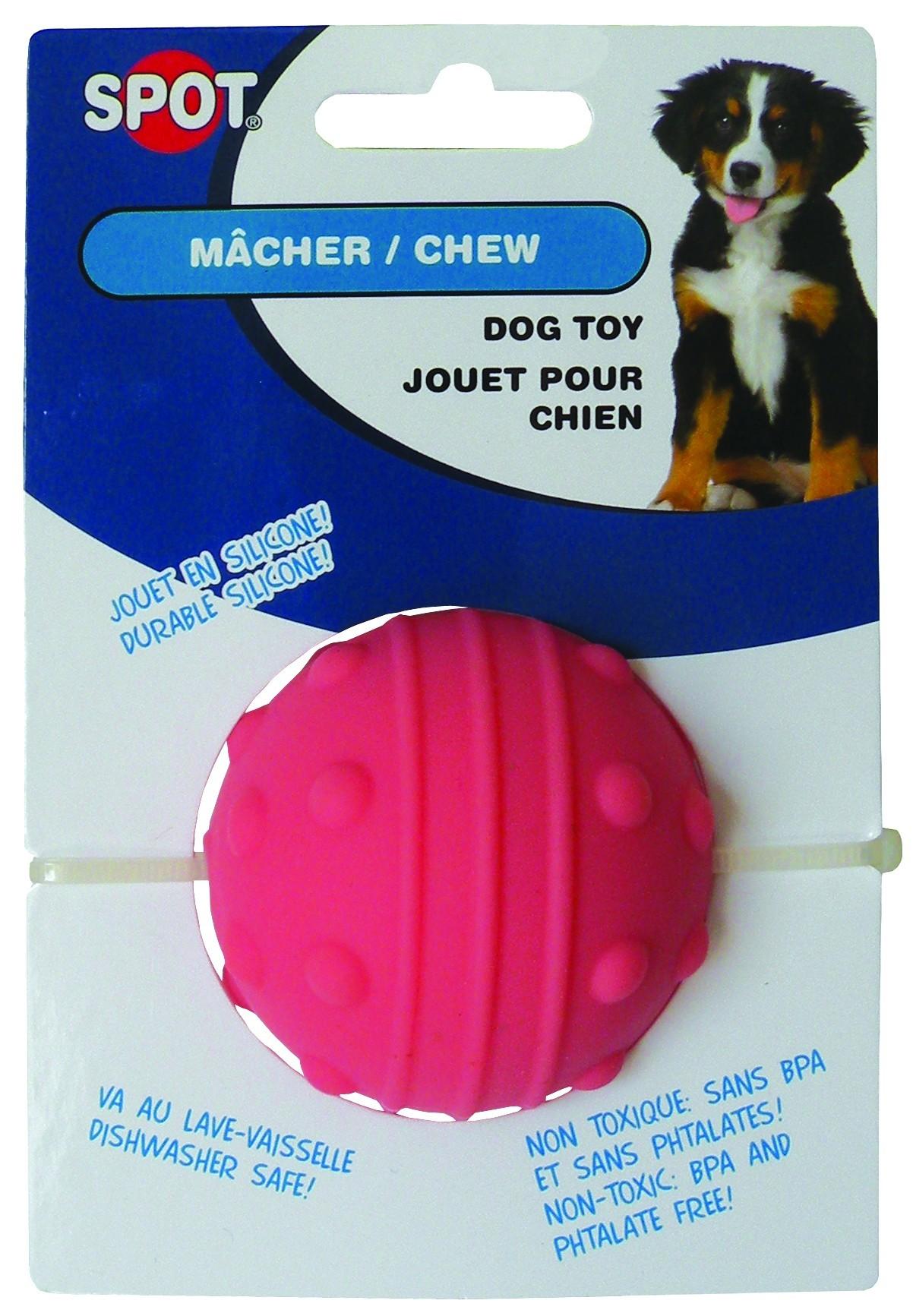 Jouet Balle pour chien silicone 6 cm