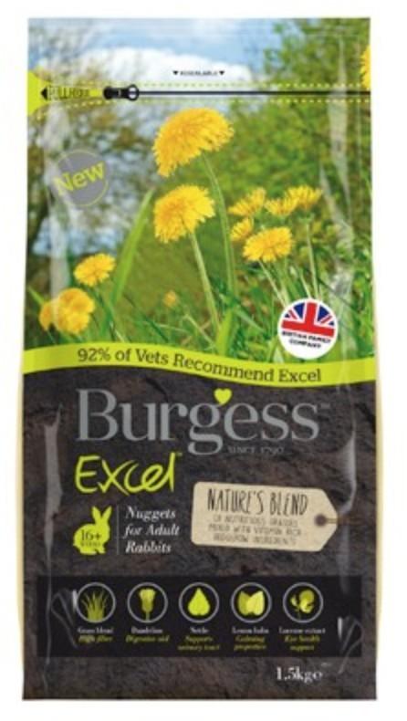 Excel Nature Blend Bunny 1,5Kg Burgess