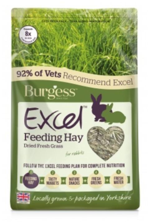 Excel Fresh Grass Hay 1Kg Burgess