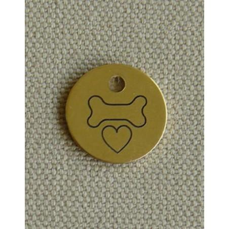 Medaille pour chien en laiton - de dos