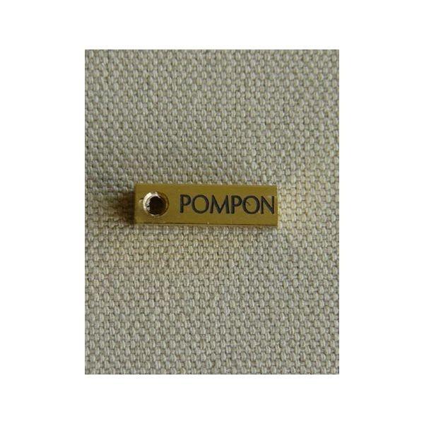 Medaille pour chien ou chat en laiton lingot, Modèle: Petit Lg. 18mm x côté 0.5mm, Gravure motif: Sans