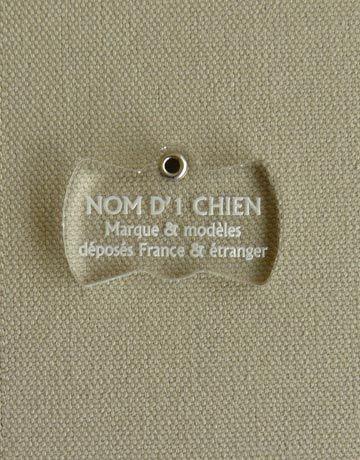 Medaille pour chien chat transparente noeud papillon, Transparente: Incolore