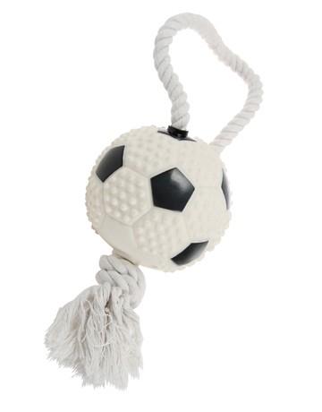 Jouet chien os et corde, Modèle: football