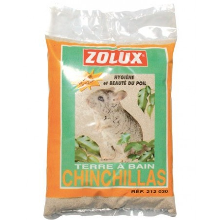 Terre à bain pour hygiène chinchillas
