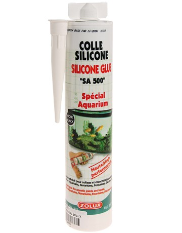 Colle silicone glue aquarium terrarium, Variante: 310ml Noir